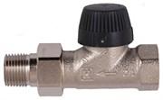 Клапан термостатический прямой тип ВВ DN15 1/2 матовая никелированная бронза