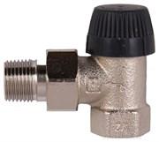 Клапан термостатический угловой тип ВВ DN15 1/2 матовая никелированная бронза
